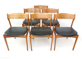 mid century dining room table inspirational set of six danish teak dining chairs designed by erik