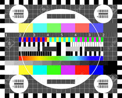 Retro Tv Test Screen Old Calibration Chip Chart Pattern