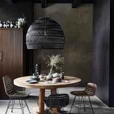 Rieten Hanglamp Naturelzwart M Home Stock