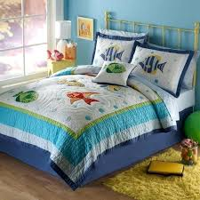 fun colorful sea ocean life bubble fish teen kid and boy twin sized bedding set childrens