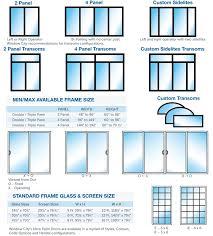 standard sliding patio door dimensions