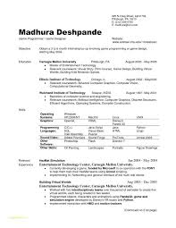 Resume Examples In Word Format With Internship Resume Template