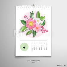 3d Paper Flower Calendar Spiral Calendar For April 3d Paper Flowers And Leaves