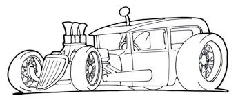 Small Picture Free Drawing Page Of A Hot Rod Car To Print And Color For Kids