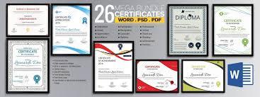 Word Certificate 53 Free Download Samples Editable Copy