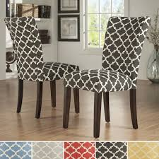 inspire q catherine moroccan pattern fabric parsons dining upholstered skirted parsons dining chairs