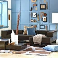 Brown And Blue Living Room Delectable Light Blue Walls R Bedroom Bedrooms Transitional Photo In With Ideas