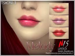 TsminhSims' Melody Lipstick