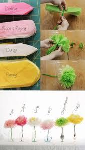 Tissue Paper Flower Tutorials Diy Wedding Crafts Tissue Paper Flower Tutorial Diy