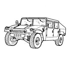 Small Picture Official Army Car Coloring Pages Bulk Color
