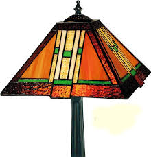 mission ribbon tiffany stained glass table lamp