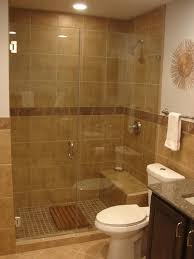 impressive tiled bench and glass shower door for warm and cozy walk in shower ideas