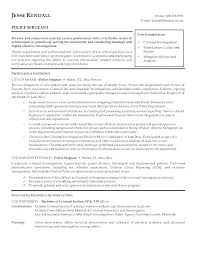 Resume For Police Officer With No Experience Sample Cover Letter