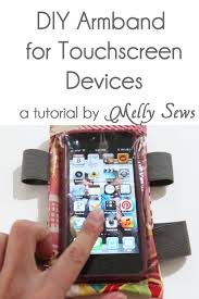 make this diy armband case for touchscreen devices a tutorial by melly sews