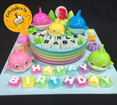 Jelly Birthday Cake Design