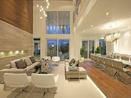 decorations dazzling living room design with long gl table and high ceiling lighting decor ideas