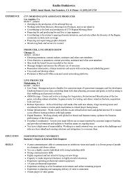 Live Resume Live Producer Resume Samples Velvet Jobs 4