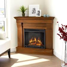 Corner Fireplace Real Flame Chateau 41 In Corner Electric Fireplace In Dark Walnut
