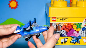 Bộ đồ chơi xếp hình lego Classic màu vàng - Hướng dẫn bé lắp ráp mô hình  máy bay chiến đấu màu xanh - YouTube