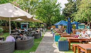 enjoy the huge beer garden at leather bottle one of london s best pub gardens