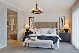 Master bedroom in the Classic Hamptons interior style by World of ...