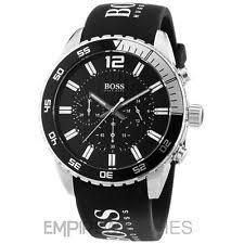 hugo boss watch mens chronograph black silicone strap 44mm 1512868 item 4 new mens hugo boss deep blue sx sports watch 1512868 rrp £325 00