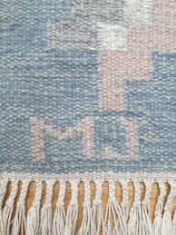 handwoven flat weave rug with initials mj picture 3