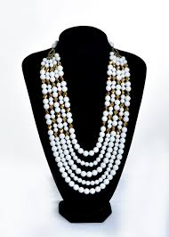Crystal Beads Necklace Designs In Gold Mountain Jade And Gold Swarovski Bead Necklace Leries