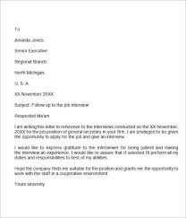 Follow Up Letter After Interview No Response Famous See Collection