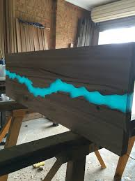 Wood Pallet Table Top I Made It Reclaimed Pallet Table Top Finished With Epoxy Resin