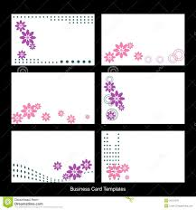 cards templates business card templates stock vector illustration of floral 10121270