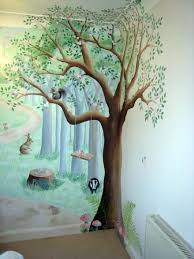 Kids Bedroom Wall Murals Inspiration Woodland Nursery Mural Fairy Fun And Frolics Home Goods In