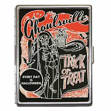 Halloween Business Cards Trick Or Treat Ghoulsville Halloween Id Case Business Card Holder Metal Wallet 713012622886 Ebay