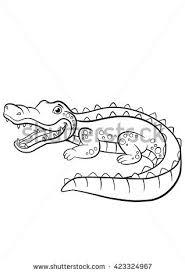 Small Picture Coloring Pages Alligators Four Little Cute Stock Vector 432249031