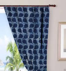 indigo blue curtains cotton voile indian hand block printed cotton shower curtain door valances window curtains ssthc10