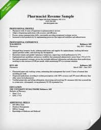 Pharmacy Resume Samples Resume Templates And Resume Examples Sample Resume Sample Resume