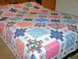 King Bed Quilt Patterns Tumbling Blocks King Size Bed Quilt Photo ... & ... Full Size Of Queen Size Patchwork Quilt Kits Queen Size Patchwork Quilt  Pattern Queen Size Patchwork ... Adamdwight.com