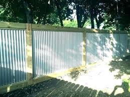 corrugated metal fence ideas home amazing panels