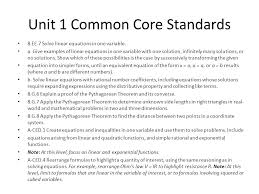 unit 1 common core standards 8 ee 7 solve linear equations in one variable