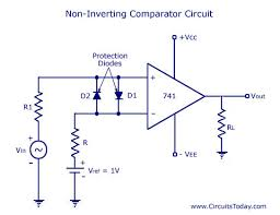 Op Amp Comparator 741 Ic Op Amp Comparator Circuit Diagram Schematic Design