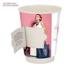 përka 12oz double wall paper coffee cup