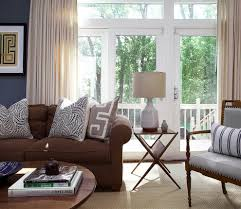 Sheer Curtains Living Room Brown And Blue Living Room Traditional With Coffee Table Sheer