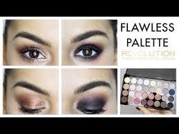 1 palette 2 looks makeup revolution ultra 32 shade eyeshadow palette flawless