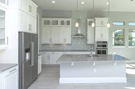 grey quartz countertops white cabinets dark kitchen home design interior