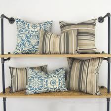 modern outdoor pillow case  striped patio cushion cover garden
