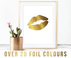 lips foil print art print lips gold copper rose gold gold quote gift art on rose gold wall art ebay with lips foil print art print lips gold copper rose gold gold