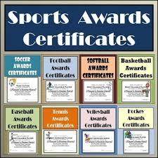 softball award certificate sports awards bundle certificates ballots eight different sports