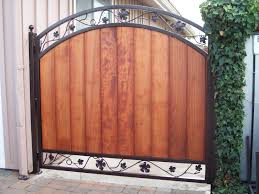 ornamental iron frame for wooden gate iron gates with wood o93