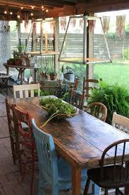 rustic outdoor table and chairs. Love Different Chairs! So Want To Collect Chairs For Our Outdoor Table. A Big Wood Table With Mismatched The Back Deck Rustic And R