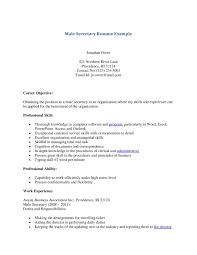 Secretary Job Description Resume Executive Secretary Resume Sample List Of Duties Examples Church 40